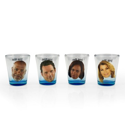 Surreal Entertainment Grey's Anatomy Set Of 4 Character Shot Glasses