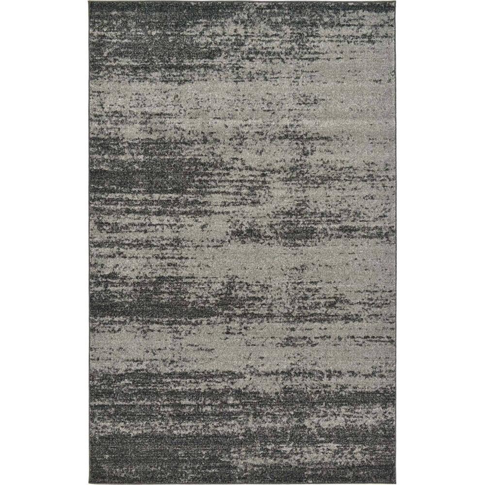 5 39 X8 39 Lucille Del Mar Rug Dark Gray Light Gray Unique Loom