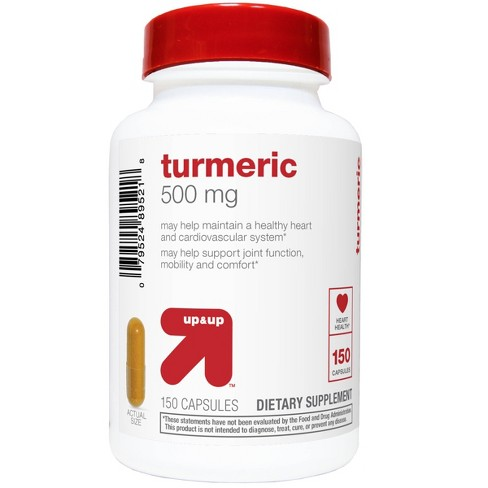 Turmeric 500mg Supplement Capsules - 150ct - Up&Up™ - image 1 of 3