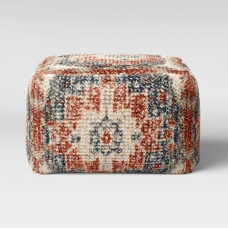 Florence Persian Rug Pouf Red/Navy - Threshold™