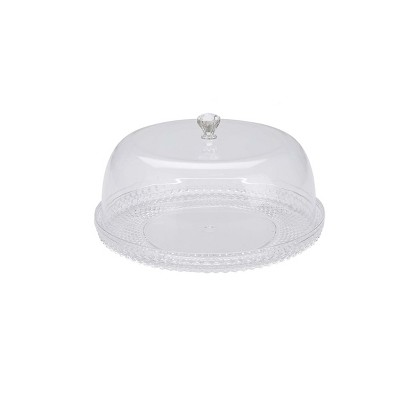 Mind Reader Clear Acrylic Cake Holder with Lid