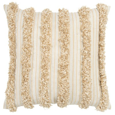 Striped Throw Pillow Cover Beige - Donny Osmond Home