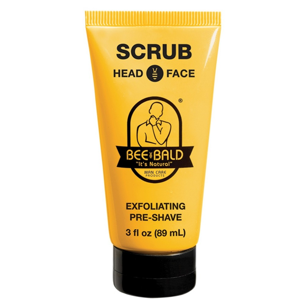 Image of Bee Bald Head And Face Exfoliating Pre-shave - 3 fl oz