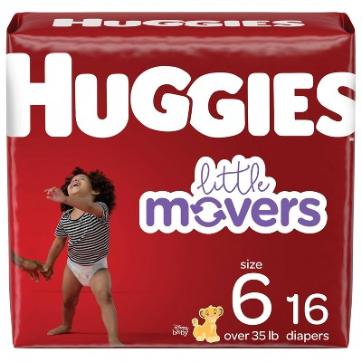 Huggies Little Movers Baby Disposable Diapers - Size 6 - 16ct