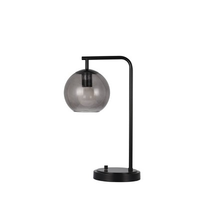 LED Smoke Glass Table Lamp Black (Includes Energy Efficient Light Bulb)- Project 62™