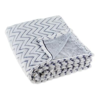 """50""""x60"""" Chevron Plush Throw Blanket - Design Imports"""