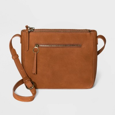 Magnetic Closure Triple Compartment Crossbody Bag - Universal Thread™
