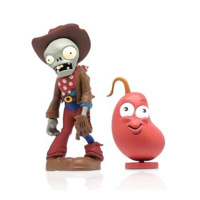 """The Zoofy Group LLC Plants Vs Zombies 3"""" Figure 2-Pack: Cowboy Zombie & Chili Bean"""