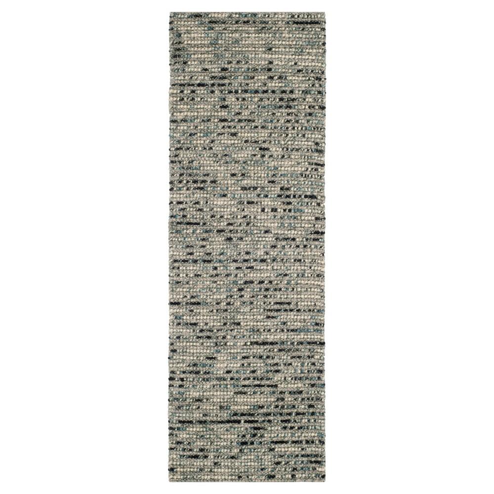 Gray/Multi Stripes Tufted Runner - (2'6X22' Runner) - Safavieh, Gray/Multicolor