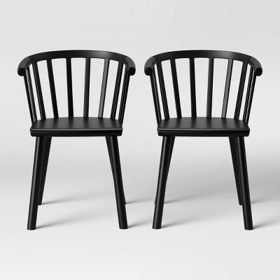 Set of 2 Balboa Barrel Back Dining Chair Black - Project 62™