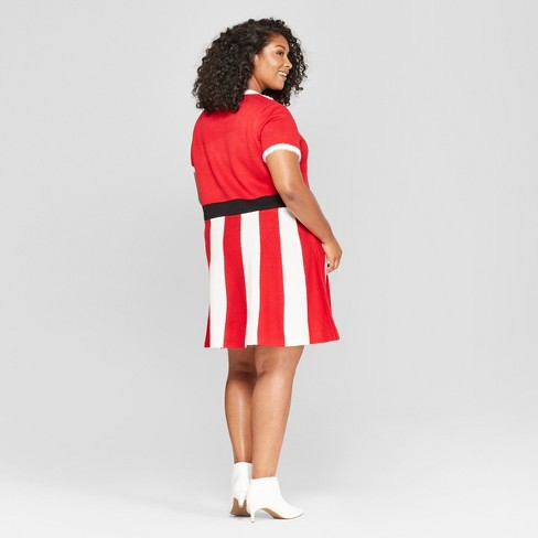Womens Plus Size Christmas Candy Cane Dress 33 Degrees Juniors