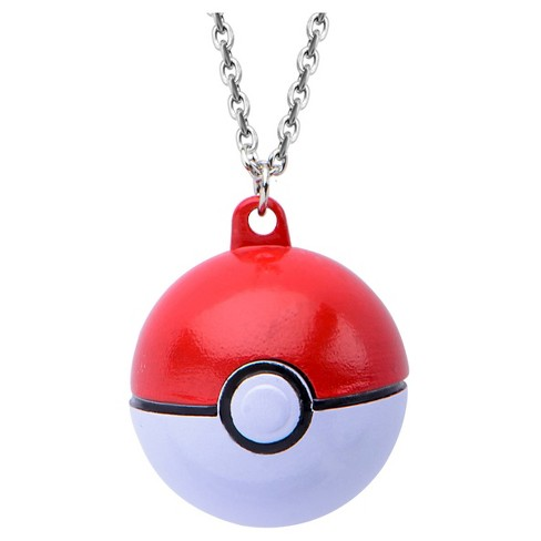 Pokémon™ Poké Ball Stainless Steel 3D Pendant with Chain - image 1 of 2