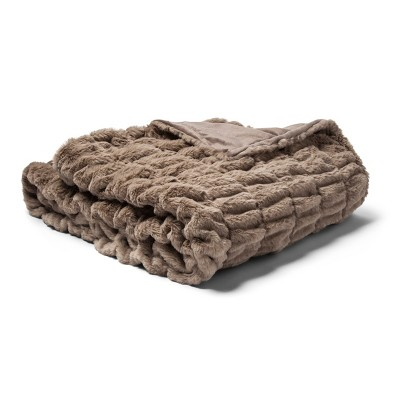 Oversized Bed Throw Blankets (60 x86  )Light Peet - Fieldcrest®