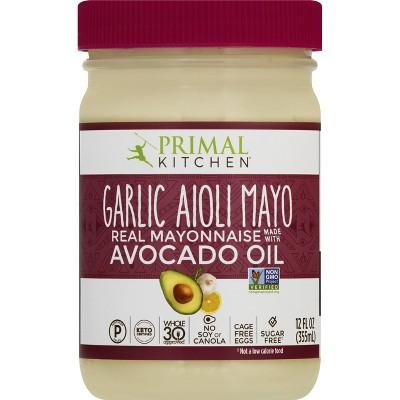 Primal Kitchen Garlic Aioli Mayo with Avocado Oil -12 fl oz