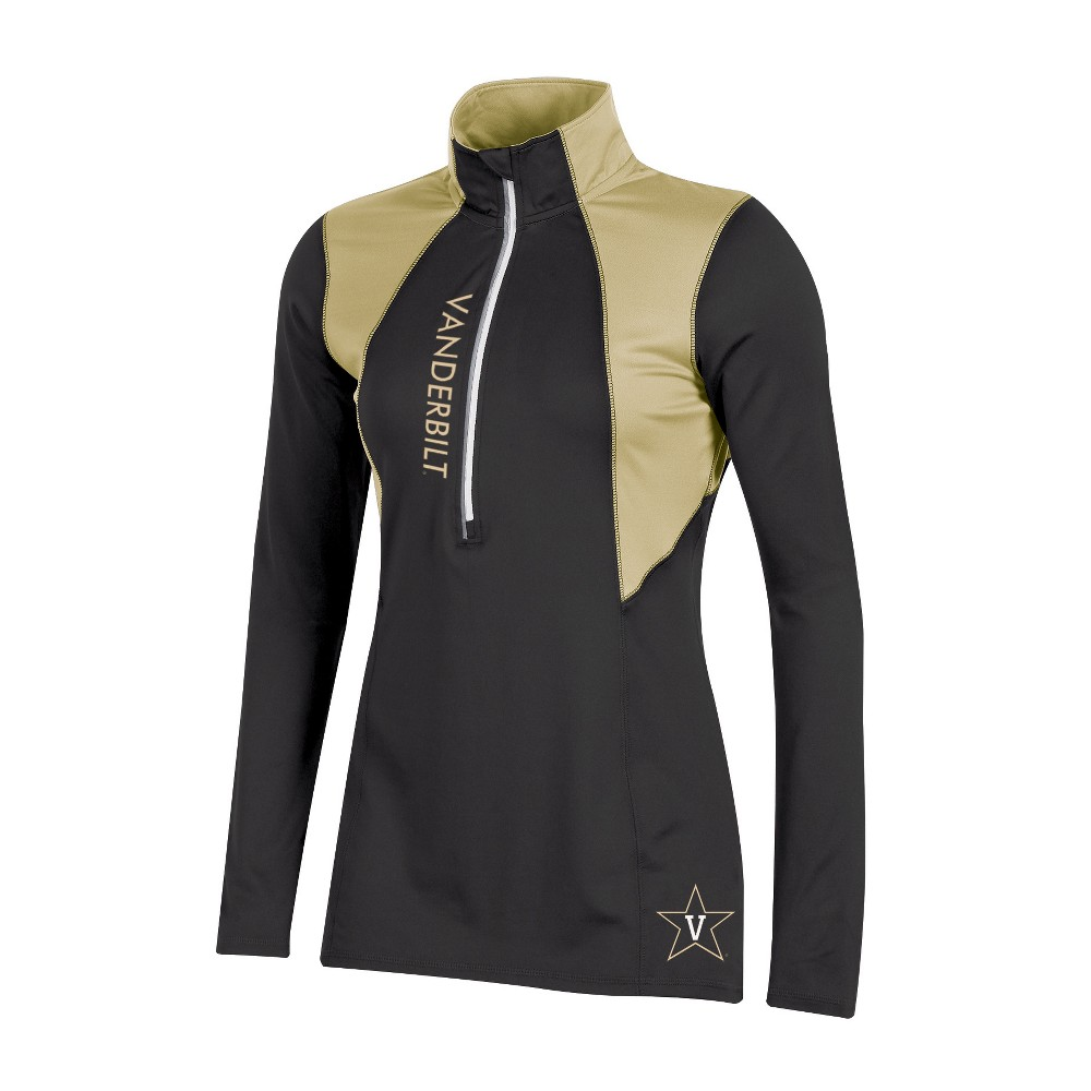 Vanderbilt Commodores Women's Long Sleeve 1/2 Zip Performance Sweatshirt - M, Multicolored