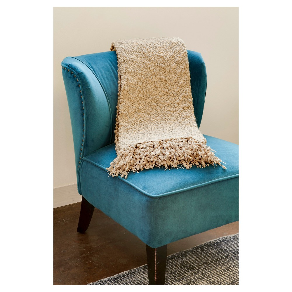 "Image of ""Brown Linen Popcorn Throw (50""""X70"""") - John F. By Feizy"""