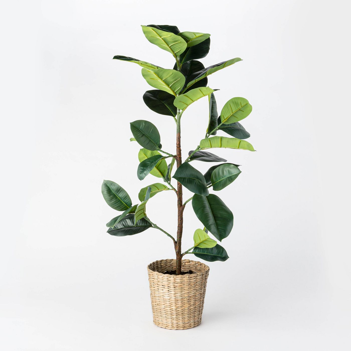 Artificial Rubber Leaf Tree in Pot Green - Threshold™ designed with Studio McGee - image 1 of 10