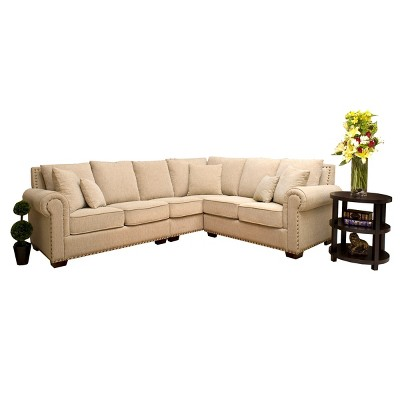 Michelle Fabric Sectional Cream - Abbyson Living