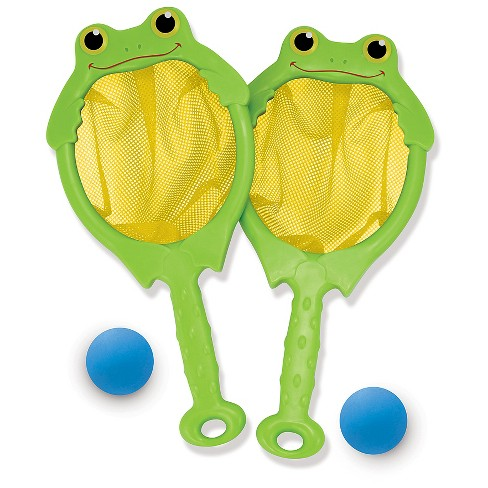Melissa & Doug® Sunny Patch Froggy Toss and Catch Net Game With 2 Balls - image 1 of 3
