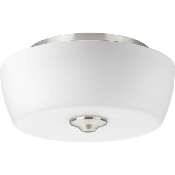 Progress Lighting P350061 Leap 2 Light 14 Wide Semi Flush Bowl Ceiling Fixture