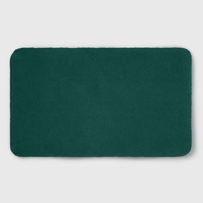 """20""""x34"""" Soft Nylon Solid Bath Rug Dark Green - Opalhouse™"""