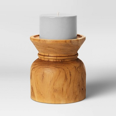 Wood Candle Holder Natural - Threshold™