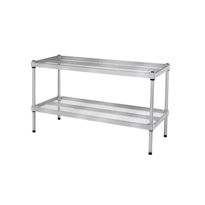 "Design Ideas Meshworks Steel Storage Shelving Unit – 2 Shelf Adjustable Shoe Rack 30.75"" x 11.8"" x 15.75"""