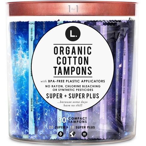 L. Organic Cotton Tampons S/S+ Duo - 30ct - image 1 of 3