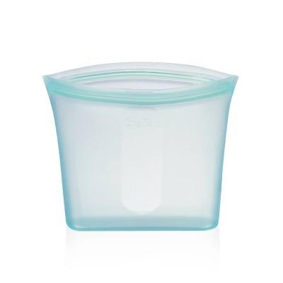 Zip Top 24oz Reusable 100% Platinum Silicone Container - Sandwich Bag - Teal