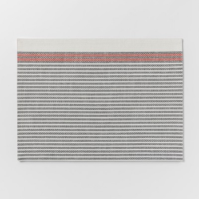 Gray With Orange Stripe Placemat - Threshold™