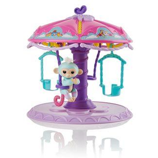 Fingerlings Twirl-a-Whirl Carousel with 1 Fingerlings Baby Monkey - Abigail