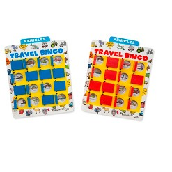 Melissa & Doug Flip to Win Travel Bingo Game - 2 Wooden Game Boards, 4 Double-Sided Cards, Kids Unisex