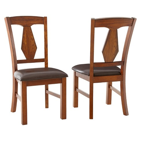 Devlin Side Chairs Wood/Brown (Set of 2) - Steve Silver Company - image 1 of 1