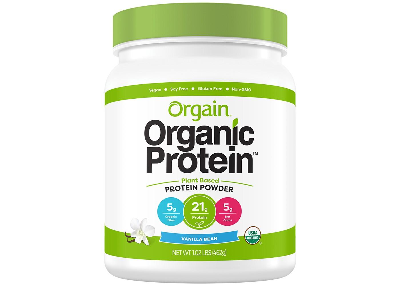 Orgain Organic Plant-Based Protein Powder - Vanilla Bean - 16.32oz
