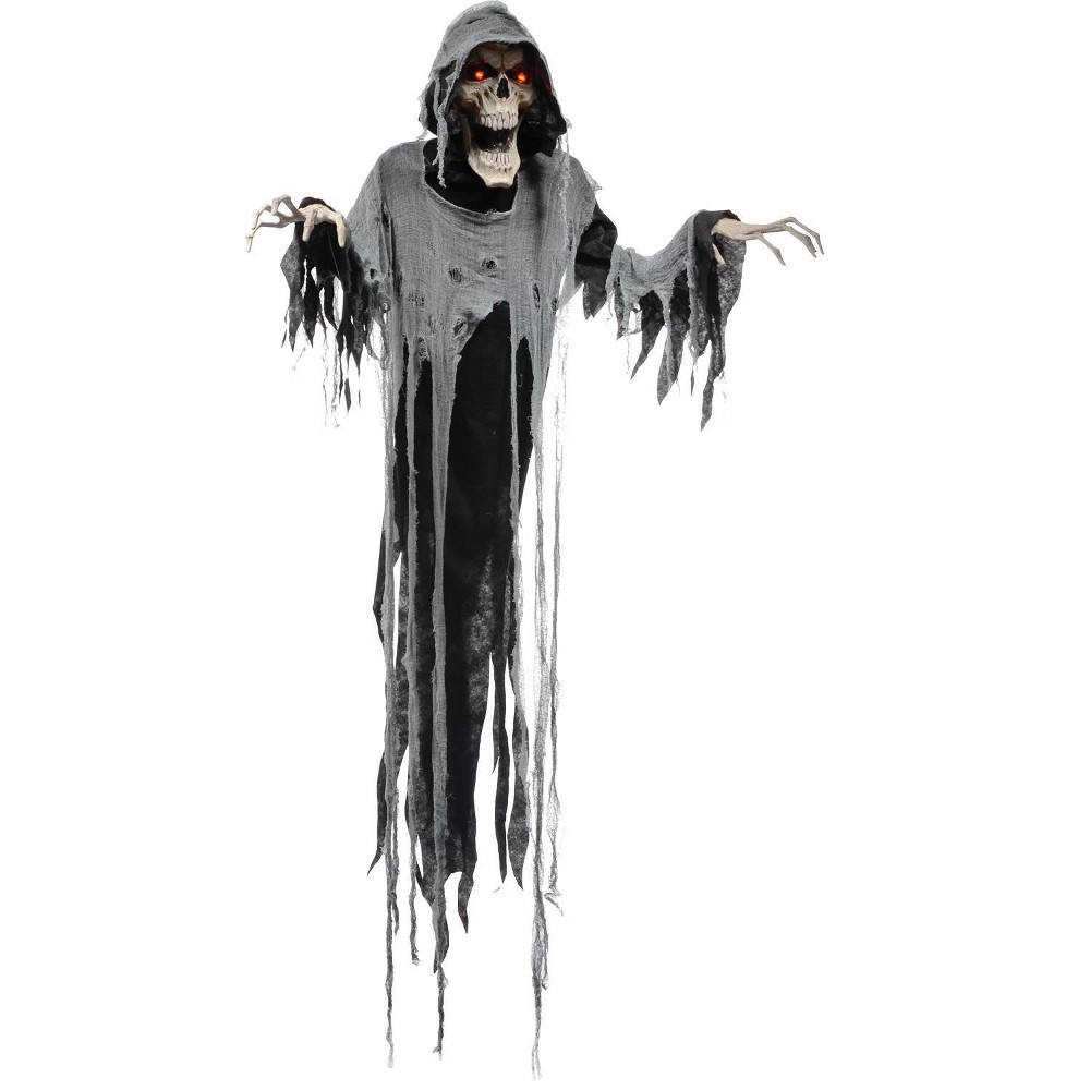 Image of 6ft Halloween Animated Hanging Reaper