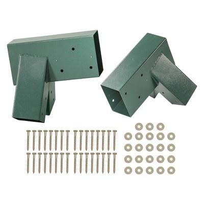 Swingan A-Frame Bracket Green Powder Coating Set Of 2
