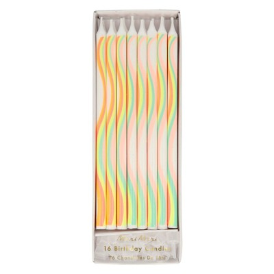 Meri Meri Rainbow Pattern Candles