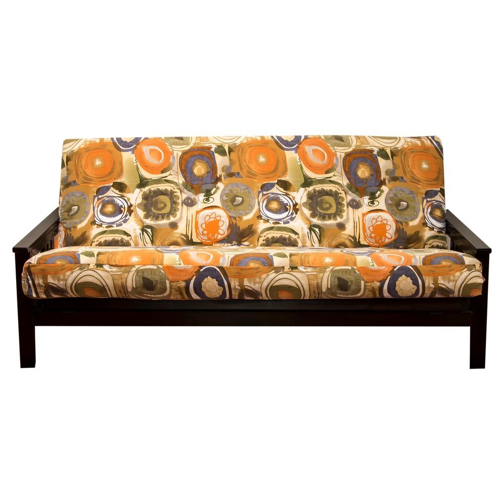 Image of Enchanted Maze Full Futon Cover Orange - Siscovers