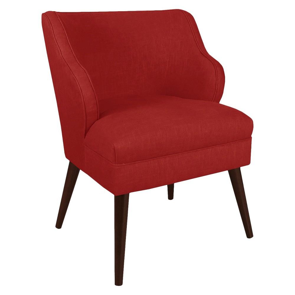 Mandolene Mid-Century Arm Chair Linen Antique Red - Project 62