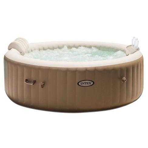 Intex PureSpa 4 Person Inflatable Bubble Jet Spa Hot Tub Set w/ Tray & Headrest - image 1 of 4