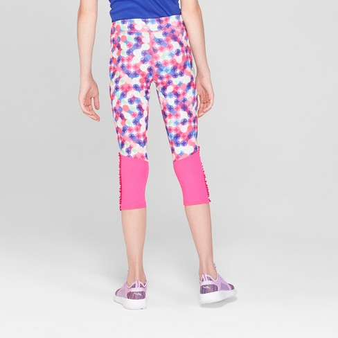 c6d2ef285c2d Girls  Ruffle Printed Capri Leggings - C9 Champion...   Target