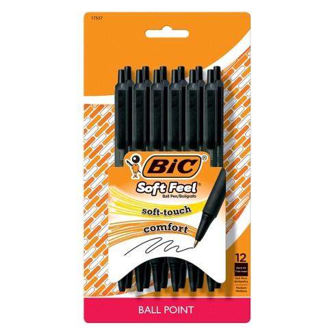 BIC Retractable Ballpoint Pen, 12ct - Black - image 1 of 4