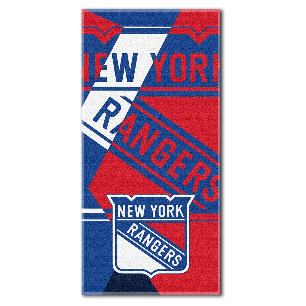 New York Rangers Northwest Puzzle Beach Towel