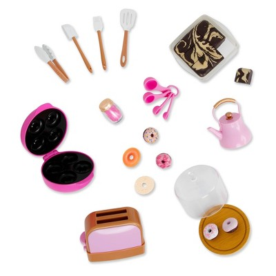 """Our Generation Baker's Kitchen Pop-Up Toaster & Whistling Tea Kettle Accessory Set for 18"""" Dolls"""