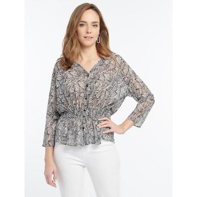 NIC+ZOE Women's Forage Shirt Jacket Neutral Multi