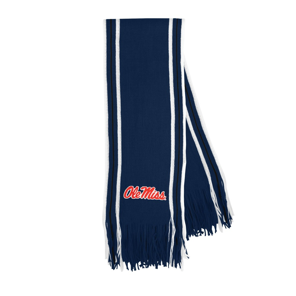 NCAA Ole Miss Rebels Little Earth Striped Fringe Scarf, Adult Unisex