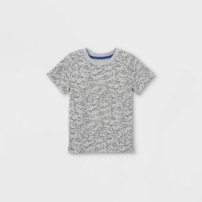 Toddler Boys' Crew Neck Short Sleeve T-Shirt - Cat & Jack™ Light Gray 2T