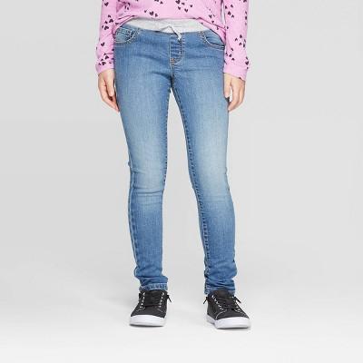 Girls' Knit Waist Low-Rise Jeans - Cat & Jack™