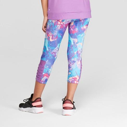 c020eb8496be3 Girls' Mesh Pieced Printed Capri Leggings - C9 Champion® : Target