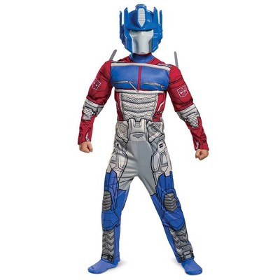 Kids' Transformers Optimus Prime Halloween Costume Muscle Jumpsuit